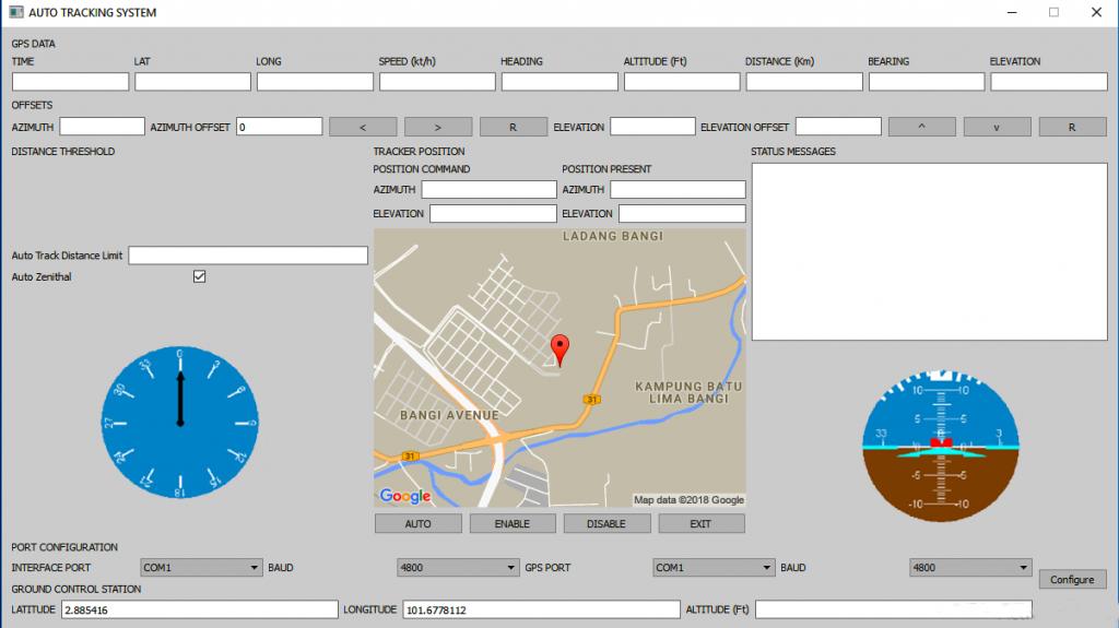 Auto-Tracking GUI